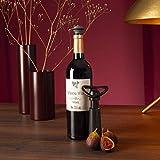 Vacu Vin Weinpumpe Concerto mit 3 Stopfen, Kunststoff, schwarz,...