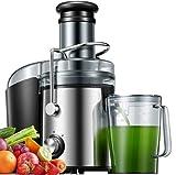 Entsafter, 800W Entsafter für Obst und Gemüse aus Edelstahl große...