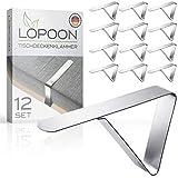 LOPOON Design Tischdeckenklammer aus Edelstahl (12 Stück) |...