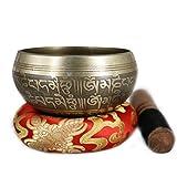 YTREI Nepalese Handmade Singing Bowl Set mit Carving Mantra &...