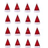 B Blesiya 16 Stück Mini Weihnachtsmütze kleine Nikolausmützen...
