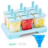 ANSMIO Eisformen 9 Eisförmchen wiederverwendbar Eis am Stiel Formen...