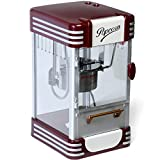 Jago® Popcornmaschine Retro - 60L/h, 200g/10min, Edelstahl Topf, für...