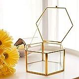 greatdaily Transparenter Rings Chachtel Ringbox Verlobung Glas...