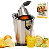 Nutrilovers CITRUS-PRESS Zitruspresse Orangenpresse Zitronenpresse...