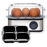Venga! Multifunktionaler Eierkocher, mit Einsatz für pochierte Eier,...