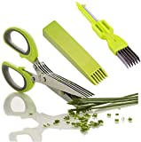 CCRoom Kräuterschere Küchenschere Edelstahl Scissors Herb mit 5...