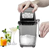 CZ-XING Crushed Ice Maker Manuell Eiscrusher Edelstahl crushed ice...