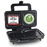 Emerio XXL Sandwichtoaster für alle Toastgrößen geeignet, BPA frei,...