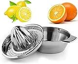 ROVE Zitruspresse Edelstahl Manuell Zitronenpresse Orangenpresse mit...