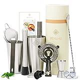 Benlhu Premium Cocktail Shaker Set - 15 Teiliges Cocktail Mixer...