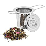 Boomers Gourmet - Teesieb I Teefilter für losen Tee mit Deckel - Tee...