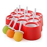 Zoku Eisform Mini Pop Ice (9 Stück) Rot, ZK115