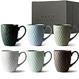 KIVY® Kaffeetassen 6er Set [400 ml] - Hochwertige Kaffeetasse mit...