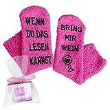 Homemari Lustige Socken Geschenke für Damen Herren, Rutschfeste...