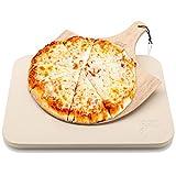 Hans Grill Pizzastein Pizza Ofenstein mit Holz Pizza Peel Brett  ...