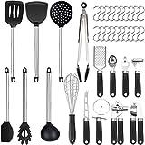 Vemingo 36er Küchenhelfer Küchenutensilien Set | Silikon Antihaft...