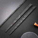 Japanische EssstäBchen 5 Paar Schwarz Chopsticks Wiederverwendbare...