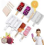 Eisformen Eis am Stiel Silikon Wiederverwendbar Popsicle Formen Set...
