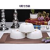 YUWANW Weißes Knochenporzellan-Geschirr, Porzellan-Geschirr für...