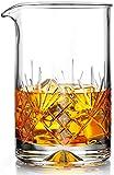 MOFADO Cocktail-Rührglas aus Kristall, 550 ml, dicker beschwerter...