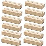 12 Stück Tischkarte Inhaber, 10x3x2cm Natürliches Massivholz...