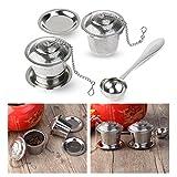 OUNONA Tee-ei Sieb Tee Rostfreier Stahl (2 Stück) mit Tee-Scoop und...