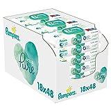 Pampers Aqua Pure Baby Feuchttücher, 864 Tücher (18 x 48) Mit 99%...