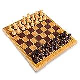 HEZHANG Schach Faltbar Magnetische Set Schach Kunststoffspiele...