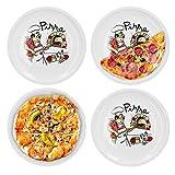 Van Well 4er Set Pizzateller groß Ø 29.5 cm mit Küchenchef-Motiv...