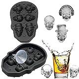FLZONE 3D Totenkopf Silikon Eiswürfelform,lustiger Eisschädel für...