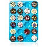 Großes Mini-Muffin-Silikonblech, für 24Muffins, Antihafteffekt,...