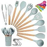 CORAFEI Kochbesteck 12er Küchenutensilien silikon, Antihaftes...