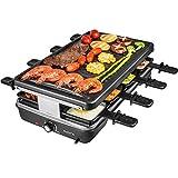 AONI Raclette grill Rauchfreier grill Elektrischer BBQ-Grill mit...