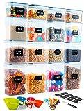 Deco haus Vorratsdosen 16 Set - Aufbewahrungsbox Küche Luftdicht...