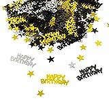 Oblique-Unique® Happy Birthday Geburtstag Konfetti Gold Silber...
