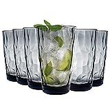 Bormioli Rocco 350260 Diamond Ocean Blue Longdrinkglas, 470 ml, Glas,...