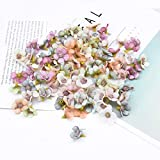 Künstliche Blumen, Mini 100 Stück Gänseblümchen Blütenköpfe,...