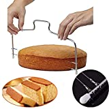 Ogquaton Doppel Kuchen Schneidedraht Edelstahl Slicer Cutter Leveling...