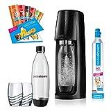 SodaStream Easy Wassersprudler-Set Promopack mit CO2-Zylinder, 2x 1 L...