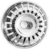 Anpro Edelstahl Küchenspüle Sieb Abflusssieb Küchenspüle Stopper...