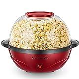Cozeemax Popcornmaschine, 2 in 1 Popcorn Maker, 24 Tassen, 850W...