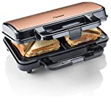 Bestron ASM90XLCO XL Sandwichmaker, Antihaftbeschichteter Toaster für...