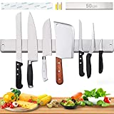 [Verbesserte 50cm] Magnetleiste Messer, Extra Starker Magnet...