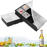 Eiswürfelformen Silikon mit Deckel XXL Eiswürfel Form...