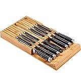 Utoplike Messerblock aus Bambus, Holz Messerblock Unbestückt...