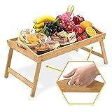 HEIMWERT Tablett Serviertablett Holz groß - besonders stabiles und...