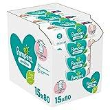 Pampers Sensitive Baby Feuchttücher, 1200 Tücher (15 x 80) Für...