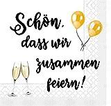 Sovie HORECA Tissue Serviette Schön, DASS wir zusammen feiern/Sekt |...