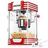 Popcornmaschine, Profi Retro Heiße Butter 300W Popcorn Maschine, mit...